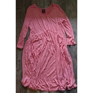 Pink and white stripped Oakley dress